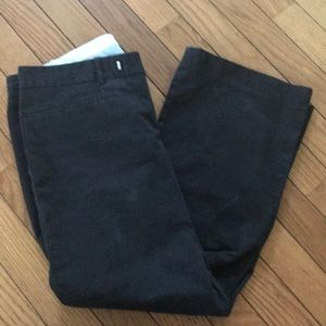 Gap black cropped trouser pants size 4